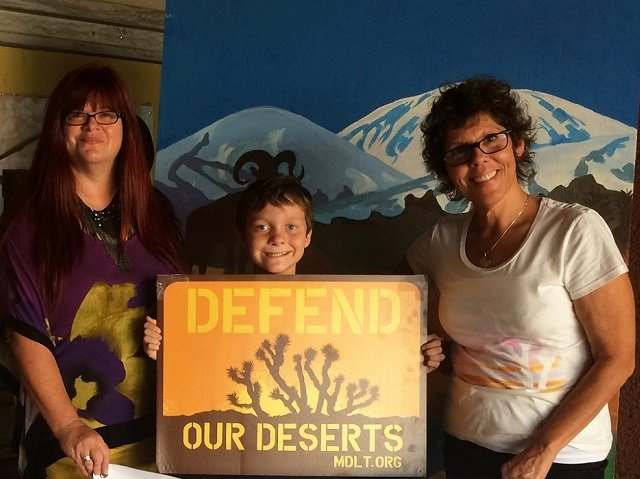 photo of MDLT staff with the founder of Kids Speak For Parks