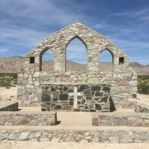 photo of chapel in the Desert Training Center at Camp Iron Mountain