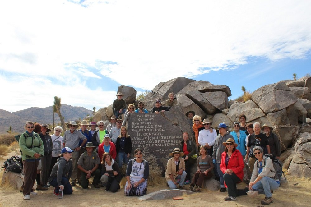 photo of a group of hikers at Samuelson's Rocks