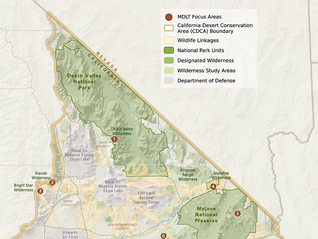 photo of a map of MDLT's service area