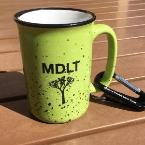 photo of green MDLT ceramic mug