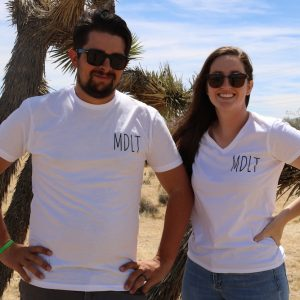 photo of MDLT staff modeling new Obi Kaufmann Tees