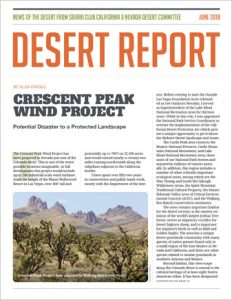 photo of the cover of the June 2018 Desert Report